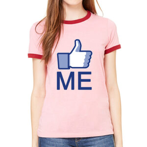 """LIKE ME"" Women's Raglan Tee by AR Talking Shirts"